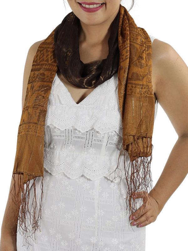 Brown Silk Scarfs