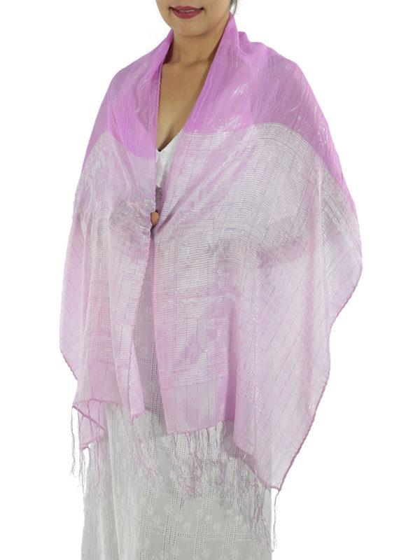 Pink Silk Shawl