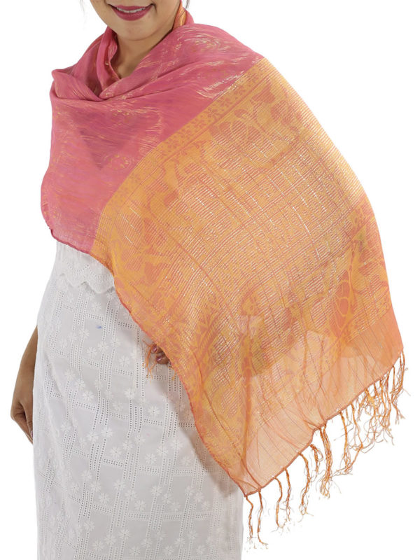 Rose Silk Wrap