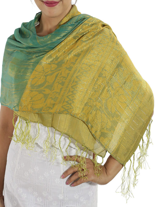 Turquoise Silk wrap