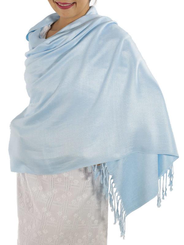 baby blue pashmina wrap