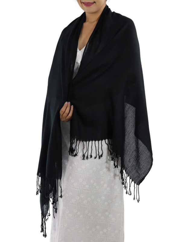 black cashmere shawl
