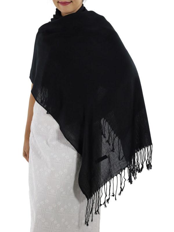 black cashmere wrap