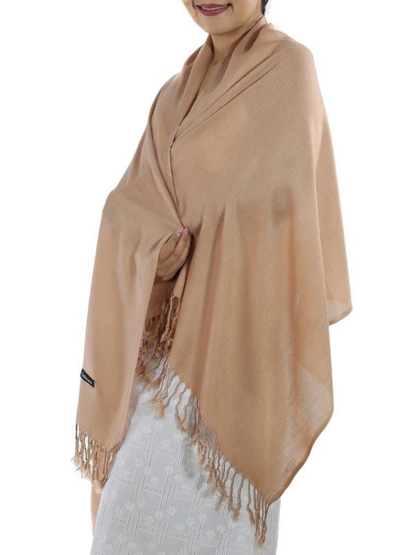 brown cashmere shawl