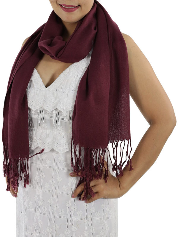 burgundy cashmere