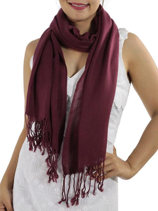 burgundy pashmina shawl