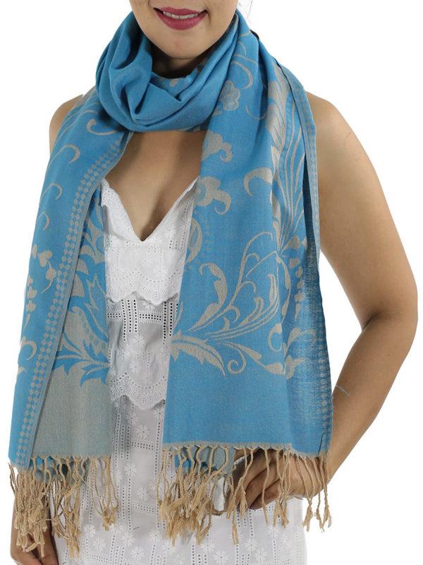 buy baby blue pashmina wrap 1