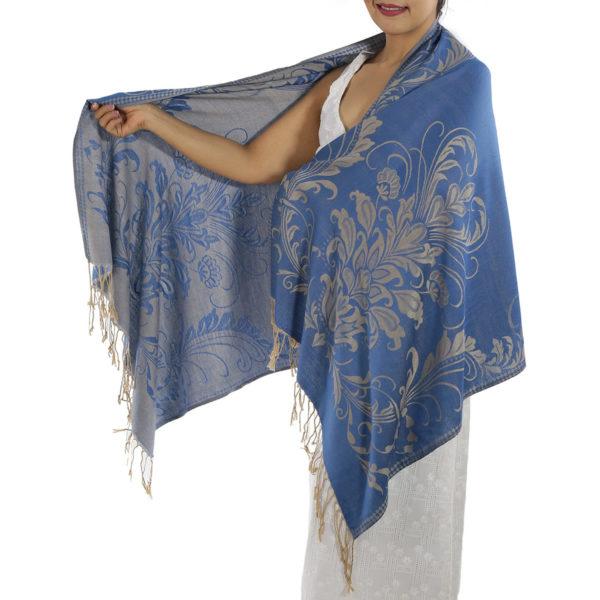 buy blue pashmina scarf