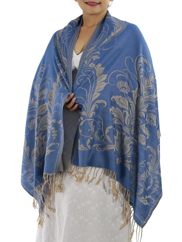 buy blue pashmina shawl