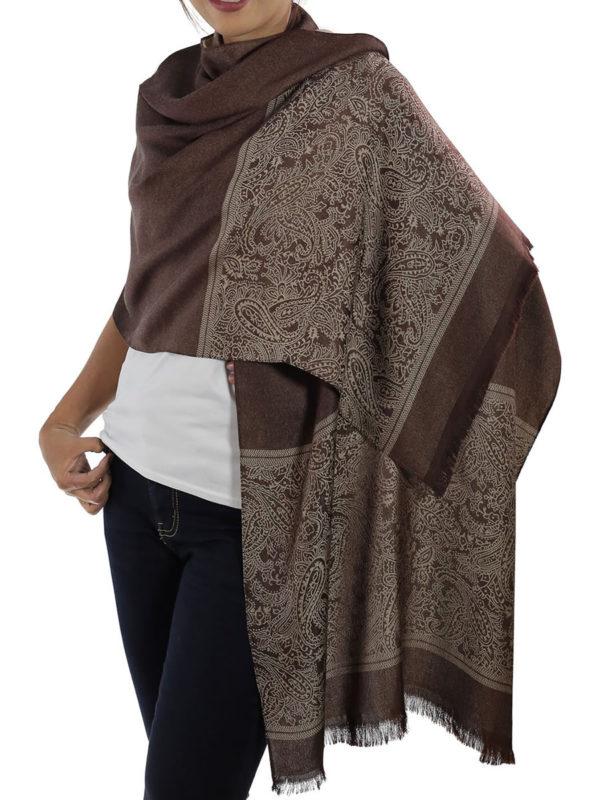 buy brown silk scarf