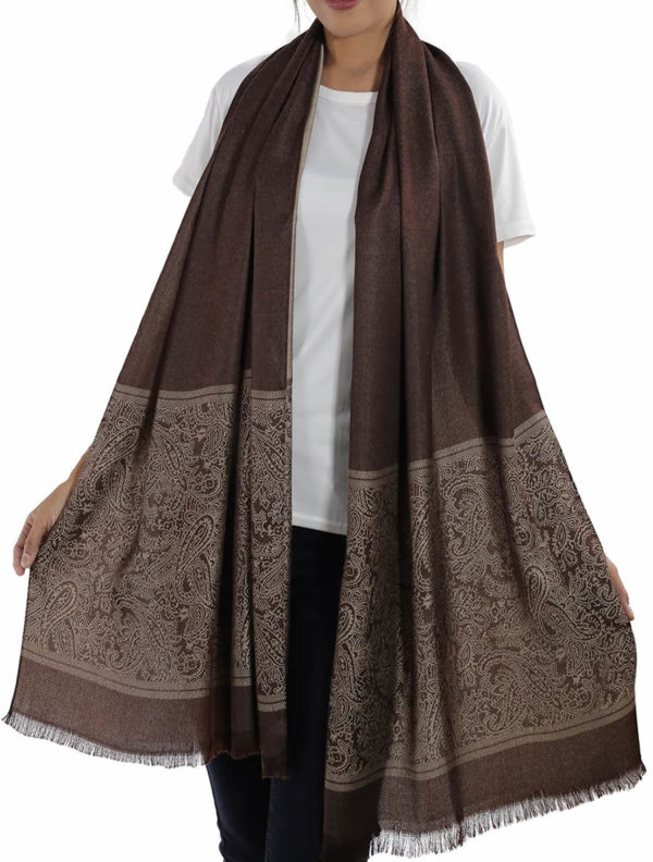 buy brown silk scarves