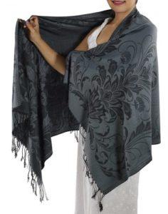 buy grey pashmina scarf