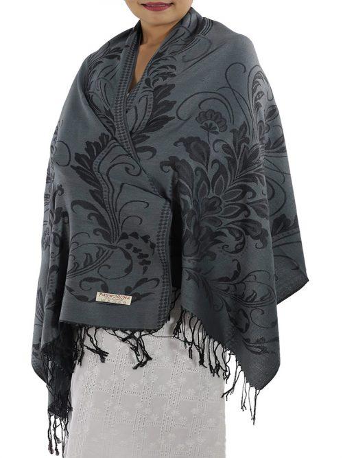 buy grey pashmina shawl