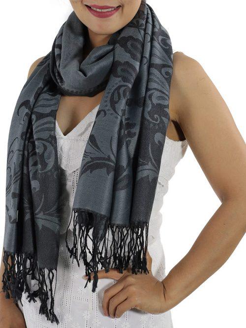 buy grey pashmina wrap