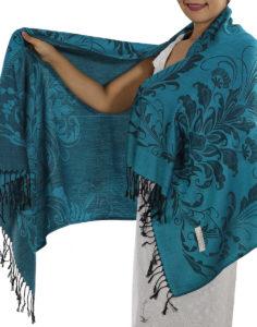 buy light blue pashmina scarf 1