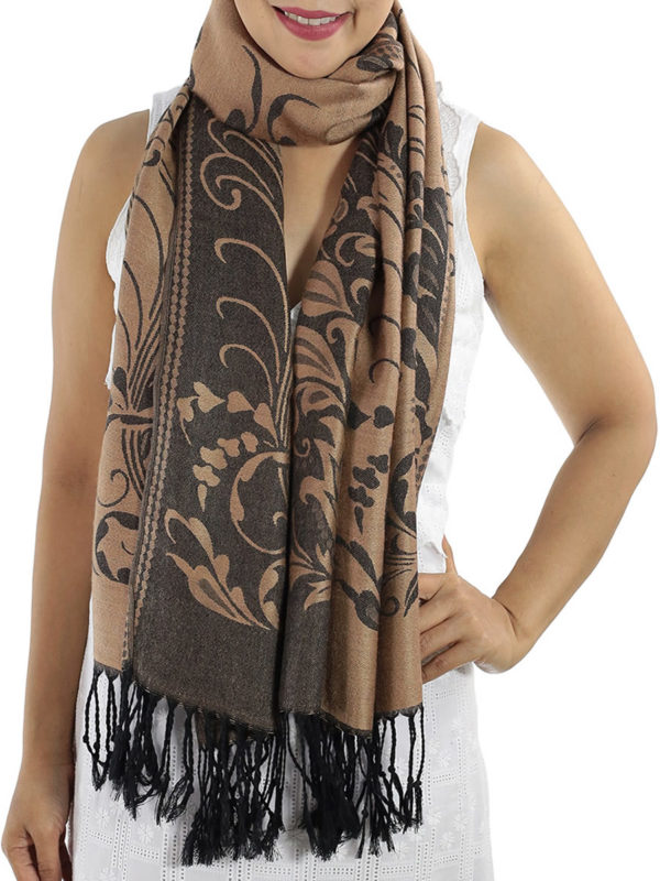 buy light brown pashmina wrap