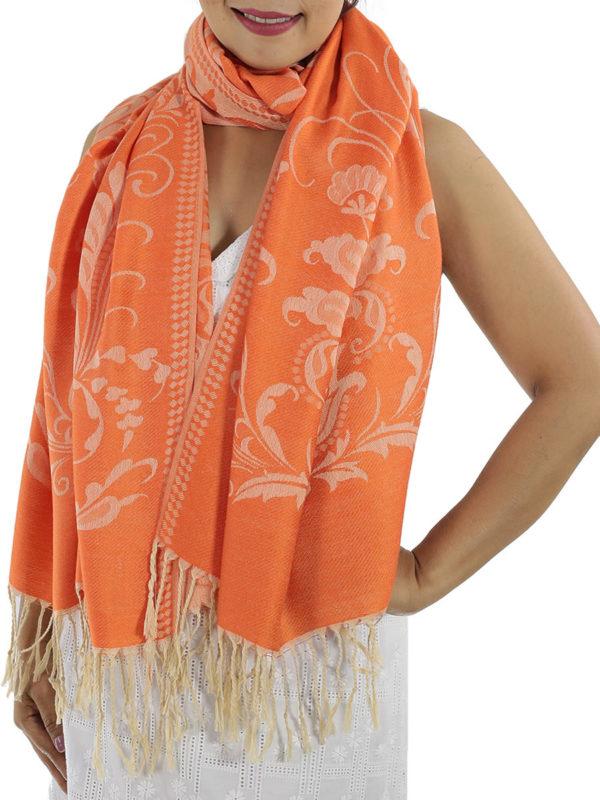 buy orange pashmina wrap