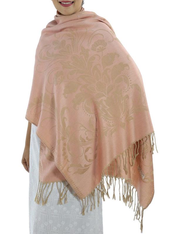 buy pink pashmina scarves
