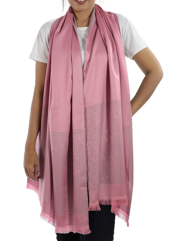 buy pink silk shawl