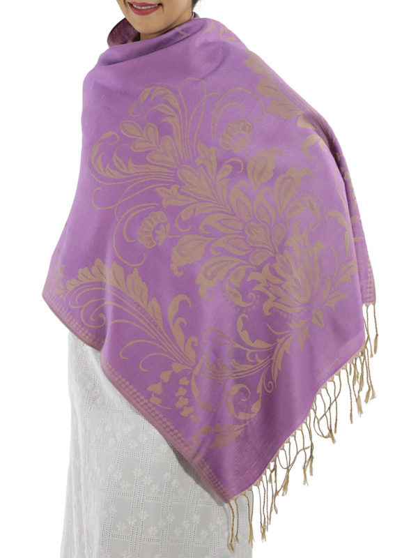 buy purple pashmina scarves