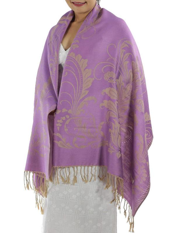 buy purple pashmina wrap