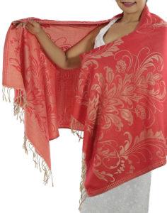 buy red pashmina scarf