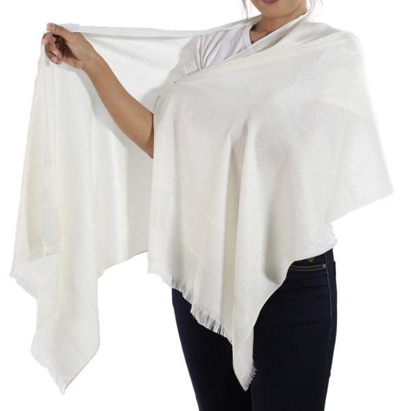 buy white silk scarf