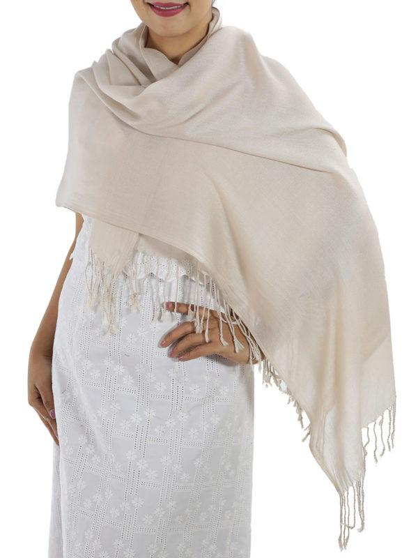 cream cashmere shawl