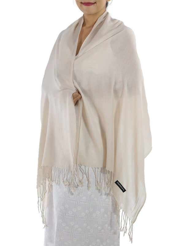 cream cashmere wrap