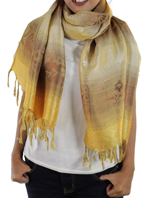 gold scarves from thailand