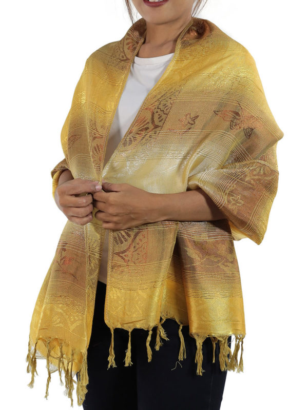 gold shawl from thailand
