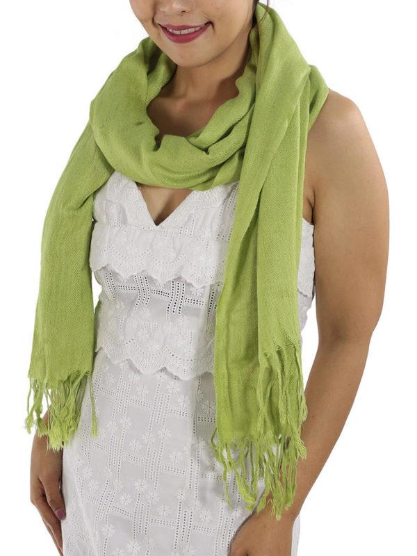 green pashminas