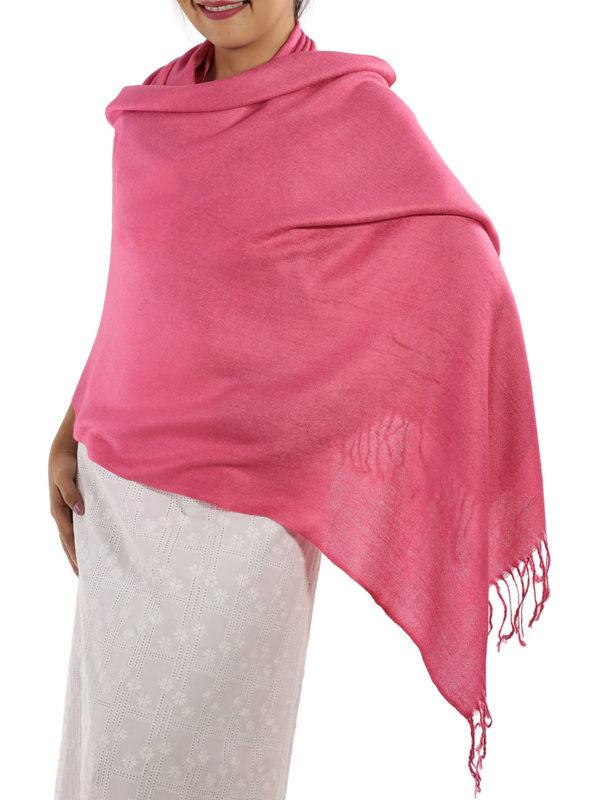 hot pink pashmina wrap