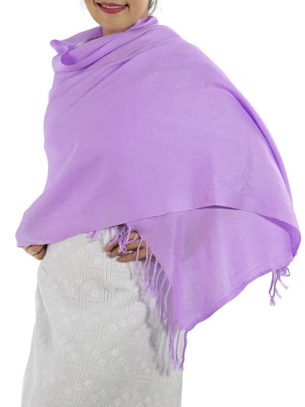 lavender pashmina wrap