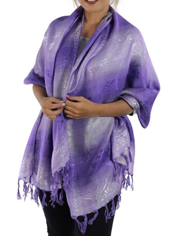 lavender shawl from thailand