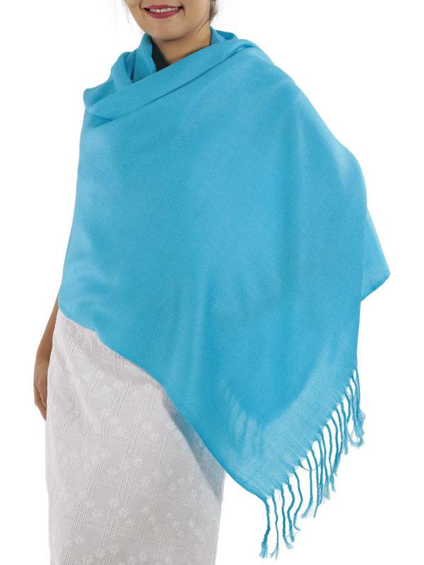 light blue pashmina shawl