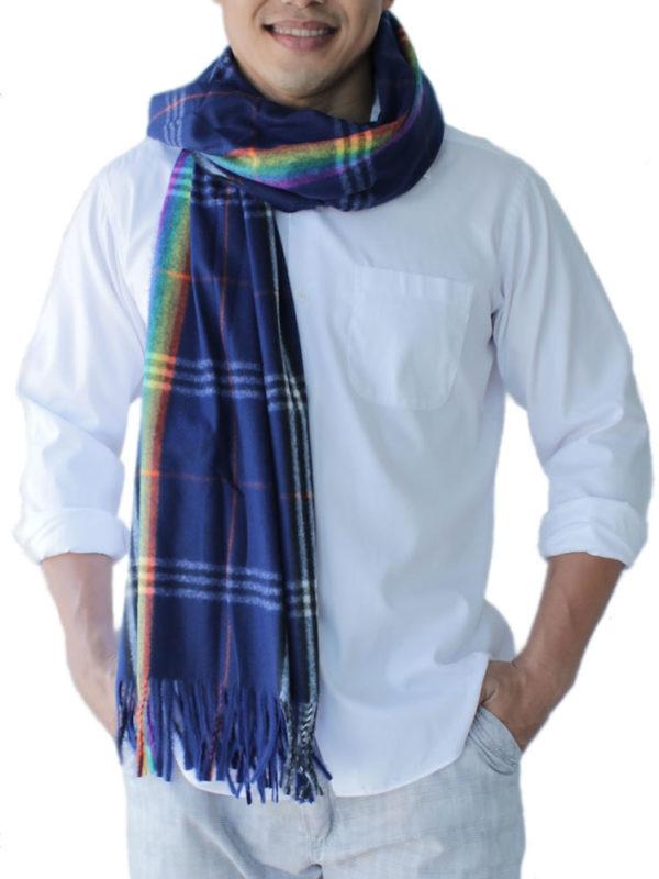 mens blue scarf