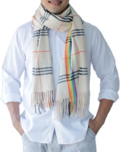 mens cream scarf