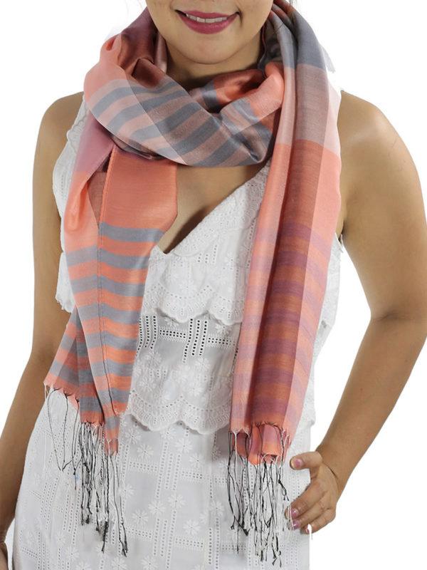 orange plaid scarves