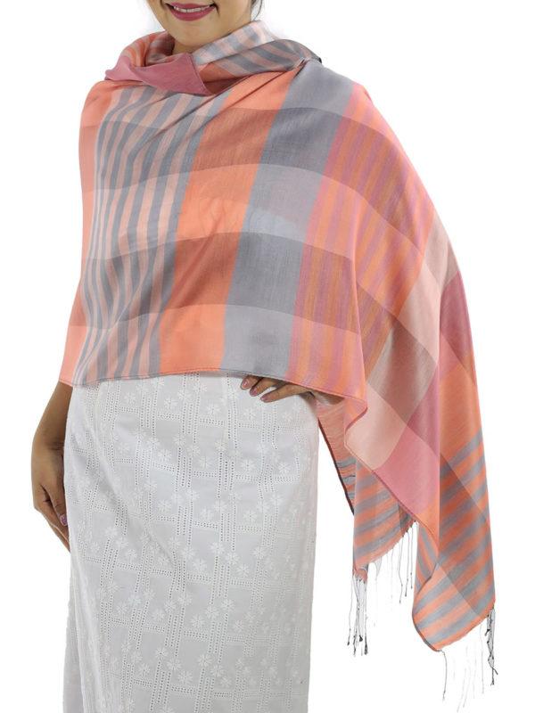 orange plaid wrap
