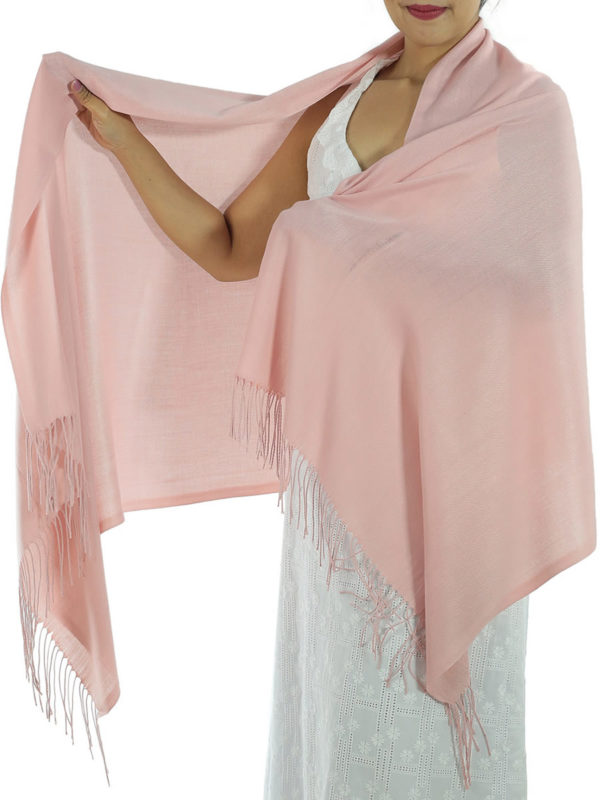 pink cashmere scarf 1