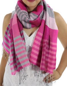 pink plaid scarves