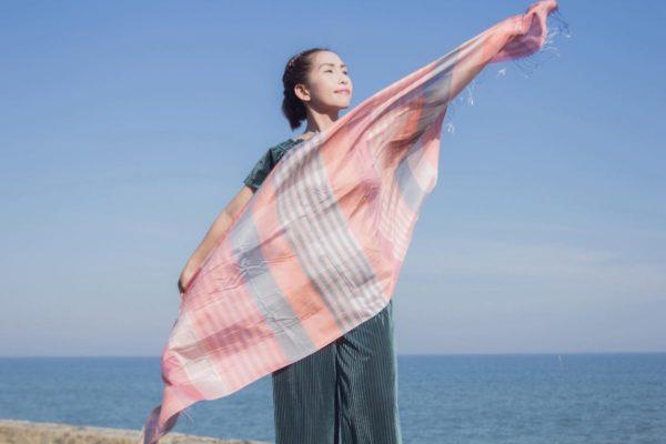 where to buy orange plaid scarf online